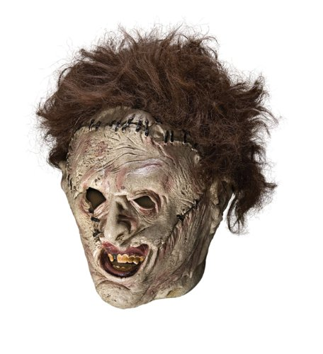 Rubie's Texas Chainsaw Massacre Leather Face Mask, Gray, One -