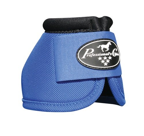 Professionals Choice Equine Ballistic Hoof Overreach Bell Boot, Pair (Large, Royal Blue)