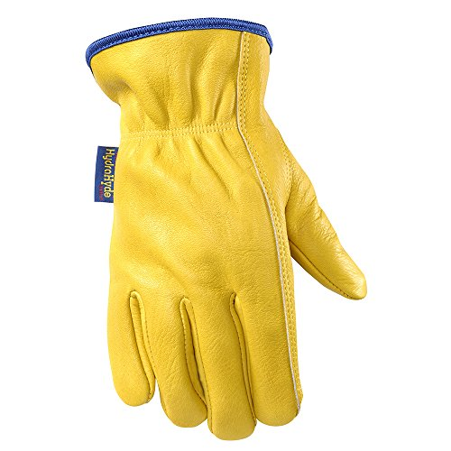 WELLS LAMONT Water Resistant Leather Work Gloves, Grain C...