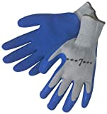 Liberty A-Grip Latex Textured Palm Coated Plain Knit Glove, Large, Blue (Pack of 12)