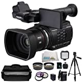 """Panasonic AG-AC90 AVCCAM Handheld Camcorder w/ SSE """"Sports Kit"""" Featuring: Extended Life Battery & External Rapid Charger, 8GB SDHC Memory Card, High Definition Wide Angle Lens, 2x Telephoto HD Lens and much much more..."""