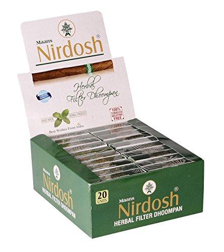 Nirdosh Tobacco & Nicotine FREE Herbal Cigarettes - 1 carton of 30 packs!! by Nirdosh