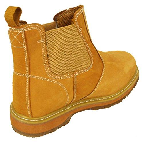 Groundwork Mens Work Slip On Chelsea Dealer Safety Boots Protective Steel Toe Cap Honey 8VHH1OPD8