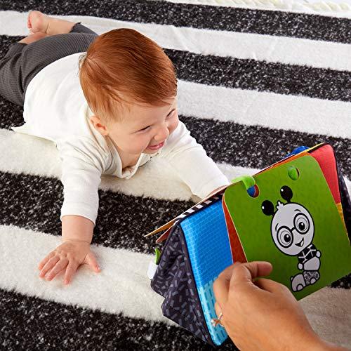 51%2Bi9QshNqL - Baby Einstein Flip for Art High Contrast Floor Activity Mirror with Take Along Cards, Newborn+