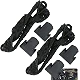KingsArchery® Crossbow Pistol String 50 lb Replacement and Caps (2 Pack) + KingsArchery® Warranty