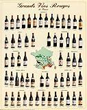 Affiche 'Grands vins rouges de France', Taille: 68 x 98 cm