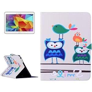 Owl Pattern Leather Funda Case Cover + Lápiz GRATIS con Holder & bolsillos internos & Wallet para Samsung Galaxy Tab 410.1/T530