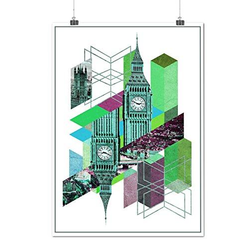 Big Ben Uk Design Fashion London Baby Matte/Glossy Poster A4 (9x12 inches) | - Bling Uk Sunglasses