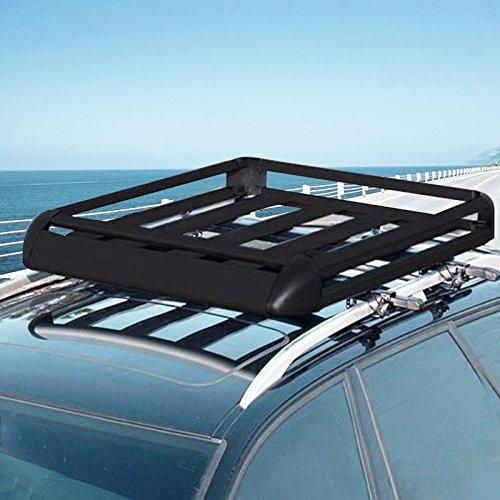 Happybuy Universal Roof Rack Cargo Basket 63 Quot X 39 4
