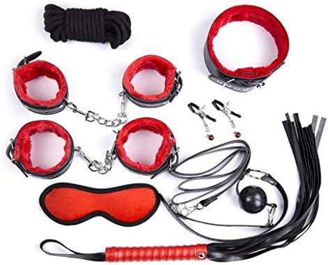 Luckly77 Kit 8PCS arnés de cuerpo correas de cuero BDSM Juguetes ...