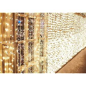 IDESION 600 LED 6M x 3M Tenda Luminosa Natale Esterno/Interno, Tenda Luci Natale IP65 con 8 Modalità di Illuminazione… 51%2BiAPXI 1L. SS300