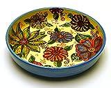 Ceramic SALAD BOWL Nº2,deep plate handmade and handpainted in flower decoration.9,64