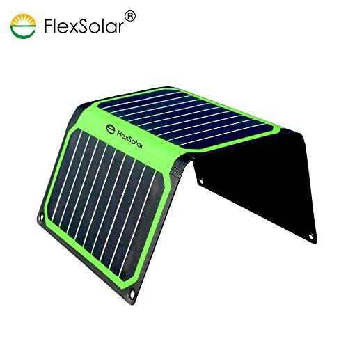 FlexSolar 16W Foldable Solar Charger Panel Portable Solar Power Panel with USB Port for iPhone, iPad and Samsung by FlexSolar