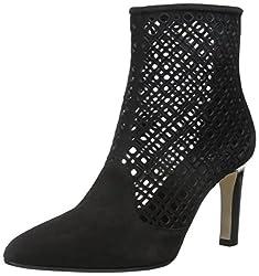 Aquatalia Women's Ana Suede Boot, Black, 6.5 M US