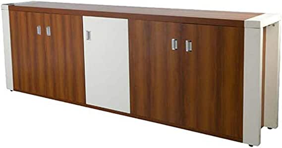 Mahmayi Moderno Sideboard A22 Credenza Storage Cabinet & Mixed Wood Construction - W240Cms X D40Cms X H80Cms (Brown) MEA22