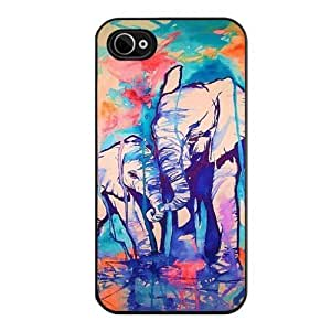 Generic Elephant Design Pattern Hard Case for iPhone 4/4S