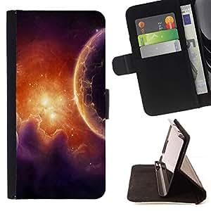 Momo Phone Case / Flip Funda de Cuero Case Cover - Pilares de gas Red Galaxy universo Alien Planet - Samsung Galaxy A3
