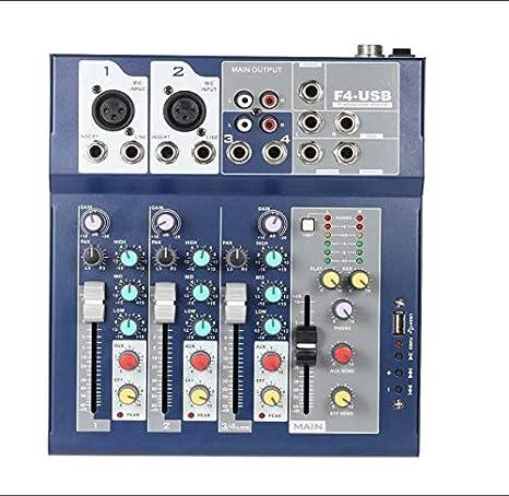 firlar Mezclador de DJ profesional de metal, 4 canales, licuadora ...
