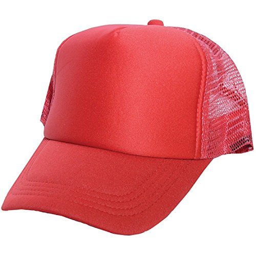 c13699e1 SAIFPRO Looks Red Netted Mesh Baseball Cap: Amazon.in: Clothing &  Accessories