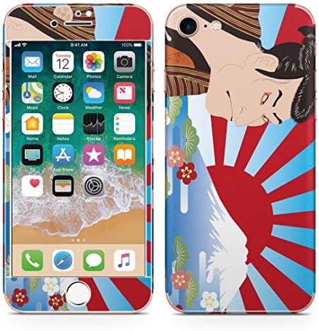 igsticker iPhone SE 2020 iPhone8 iPhone7 専用 スキンシール 全面スキンシール フル 背面 側面 正面 液晶 ステッカー 保護シール 007394 日本語・和柄 和風 和柄 浮世絵 富士山