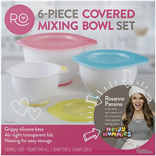 (ROSANNA PANSINO by Wilton Mixing Bowl with Lids Set, 6-Piece)