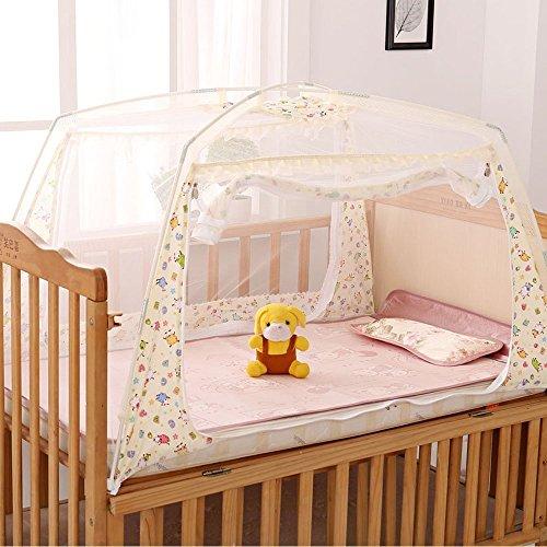 Lohome Mosquito Kids Net Zippered Baby Children Nursery Bed Crib