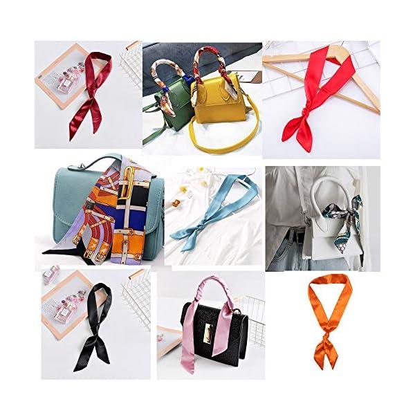 Christmas gifts Ribbon Scarf for Women Handbag Wrap Handle Satin Belt Sash Necktie Neck Scarf,Fashion Hair Accessory Hairband