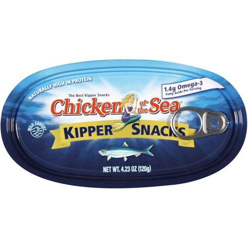 Chicken of the Sea Naturally Smoked Herring Fillet Kipper Snack, 4.23 Ounce -- 12 per case.
