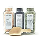 LIVE BY BEING Bath Salt Spa Gift Set Collection - All-Natural, Vegan, Handmade, Organic Essential Oils for Muscle Aches, Mineral Rich Skin Hydration, Calming Relaxation & Restful Sleep