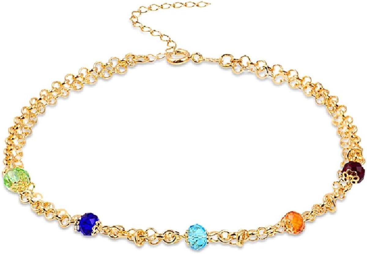 Barzel 18K Gold Plated /& Crystal Beads Elephant Ankle Bracelet Anklet Jewelry