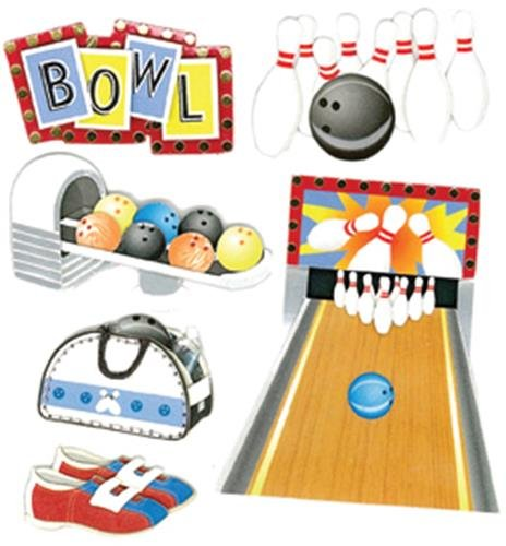 Jolee's Boutique Bowling Alley Dimensional Stickers