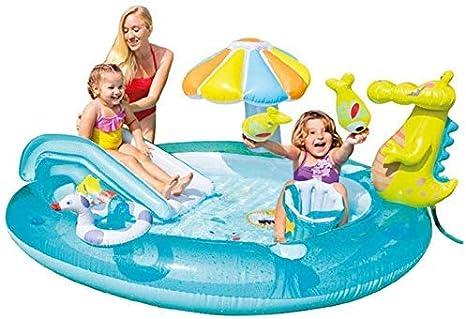 QWE Bola de Piscina Piscina for bebé cocodrilo Piscina Inflable del Océano Juguete for el jardín del Patio Trasero JHKK: Amazon.es: Deportes y aire libre