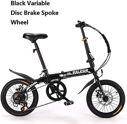 ZLXLX Bicicleta Plegable Adultos Hombres Y Mujeres NiñOs 16/14 ...