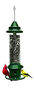 Squirrel Buster Plus Squirrel-proof Bird Feeder w/Cardinal Ring & 6 Feeding Ports, 5.1-pound Seed Capacity, Adjustable, Pole-mountable (POLE ADAPTOR SOLD SEPARATELY)