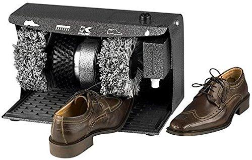 "Home Decorators Collection Electric Shoe Polisher, 9"" Hx9 Wx15 D, Black"