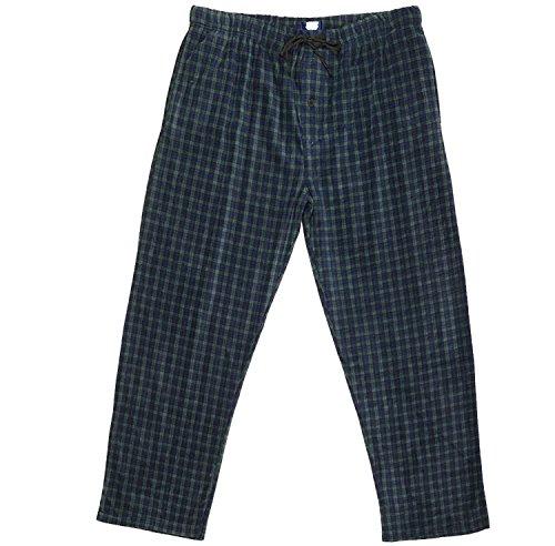 Super Soft Fleece Pants (Men's Yarndyed Super Soft Polar Fleece Pajama Bottom Lounge Pants - Medium - Green & Blue)