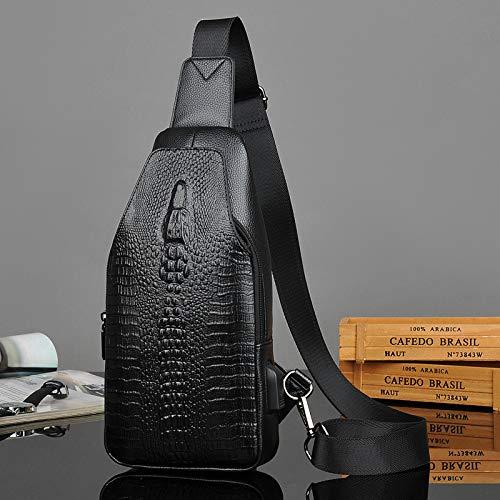 Cuir Dos Pour Épaule Mode Multifonction Plein Bandoulière À Sports Sac Élégant De Pu Hommes noir En Air wxIOpnHqB