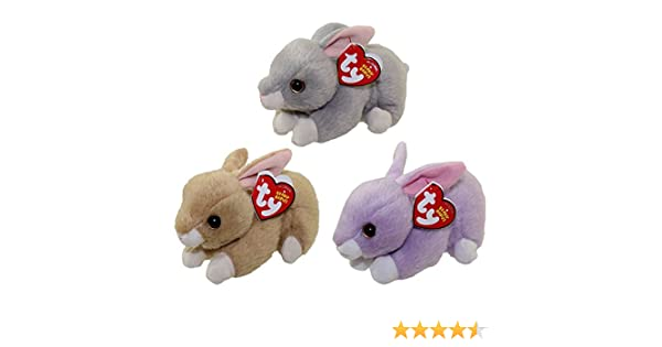 95a45f96ccf Amazon.com  Ty 2016 Beanie Babies Easter Bunny set with Nibbler ...