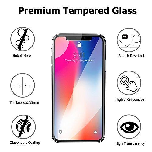 iPhone X Screen Protector, ACEKIN iPhone X Tempered Glass Screen Protector for iPhone X/iPhone 10 [5.8 inch], 2 -Pack