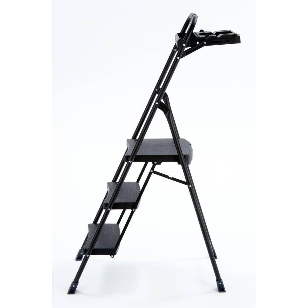 5 ft. Steel 3-Step Pro Hybrid Step Stool Ladder w/ 250 lb. Capacity and Project Tray by Gorilla Ladders