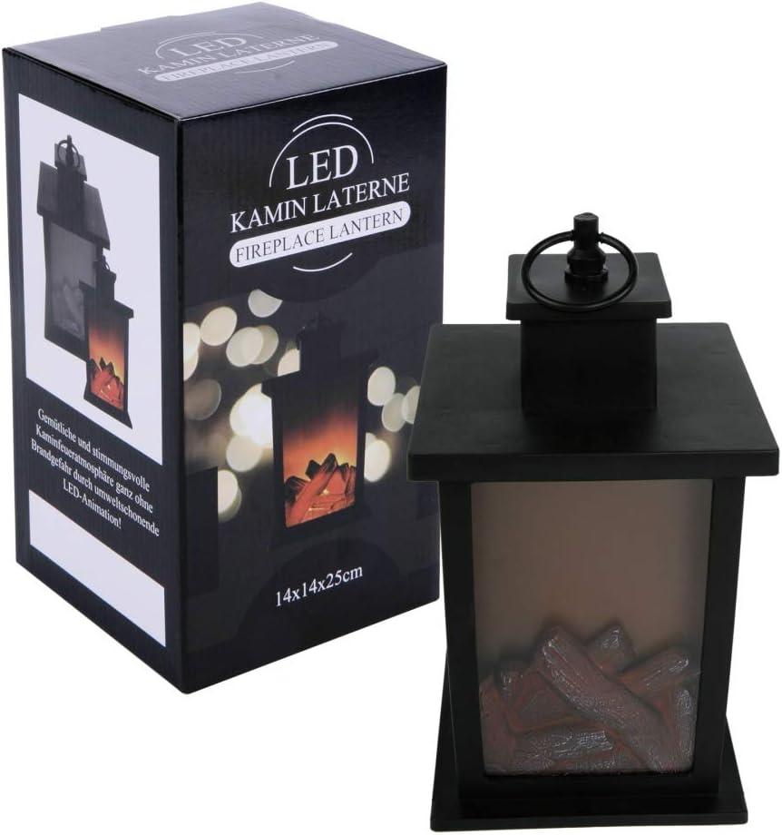 LED-LaterneKamin H 25 cm