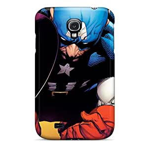 Anti-scratch And Shatterproof Captain America I4 Phone Case For Galaxy S4/ High Quality Tpu Case