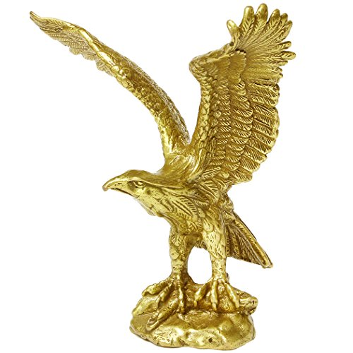 Brass Fengshui Handmade Fortune Eagle/ Hawk Statue Home Office Decoration Gift