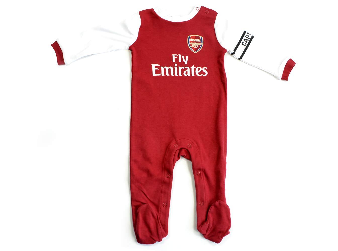 Heim-// Auswärtstrikot Weiß Arsenal FC Baby Kurzarm-Bodys 2 Stück Rot