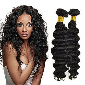 Feelontop Hair Products Best Brazilian Hair Unprocessed10 PCS Brazilian Deep Wave Hair Raw Hair Unprocessed (30inch)