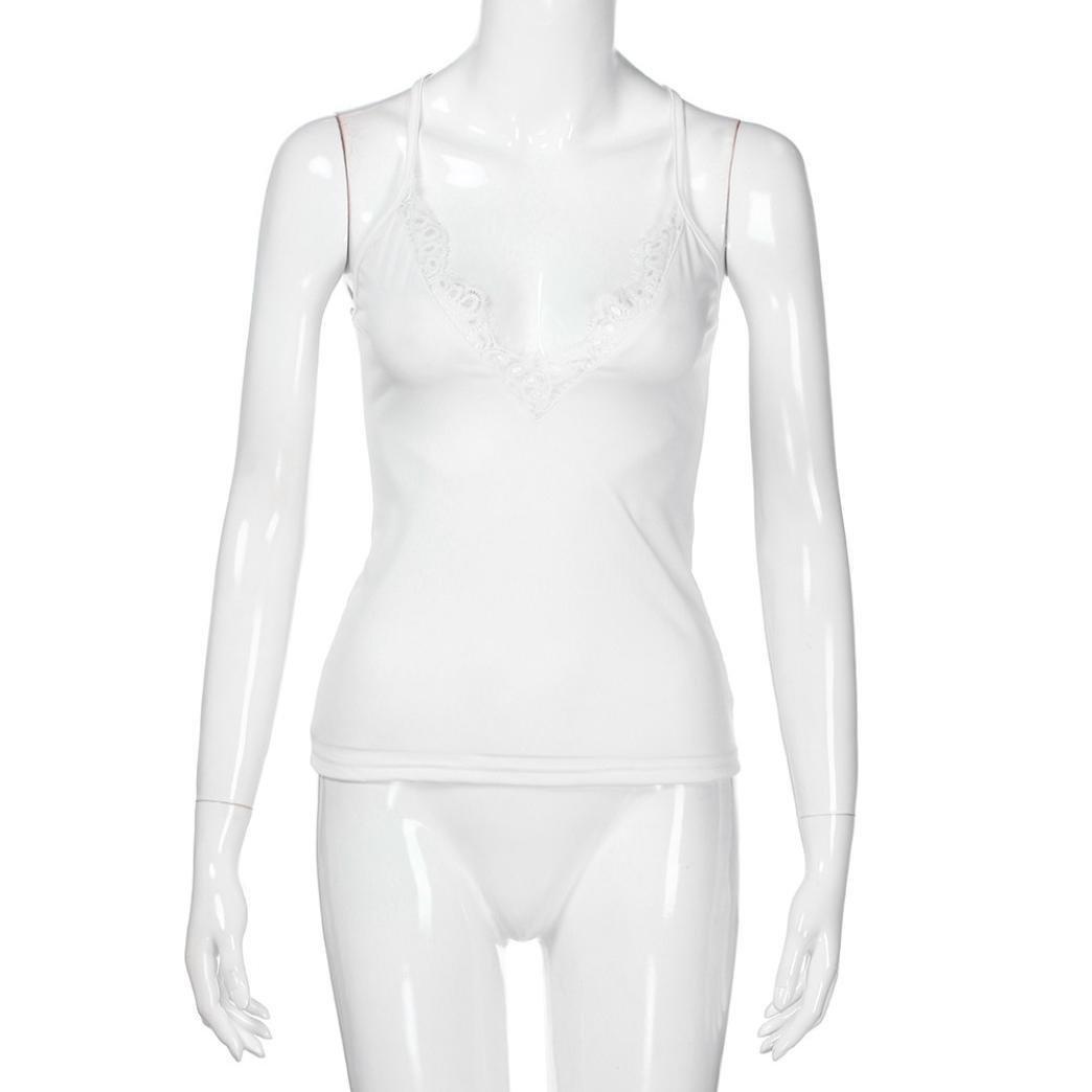 Chaleco de encaje sin mangas con cuello en v para mujer, Ba Zha Hei Mujer Vestidos | Mujer Vestir Ropa | Mujer Sexy Falda Chaleco Camisetas | Blusa De ...