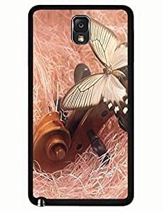 Amazing Hard Back Plastic Case Cover for Samsung Galaxy Note 3 N9005 With The Design Of Butterfly On Guitar