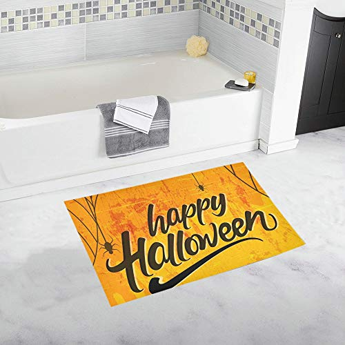 Creative Text Happy Halloween Hand Lettering Custom Non-Slip