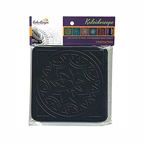 Cedar Canyon Textiles Artist's Paintstiks Rubbing Plates, 7.125 by 7.125-Inch, Kaleidoscope, 6-Pack ()