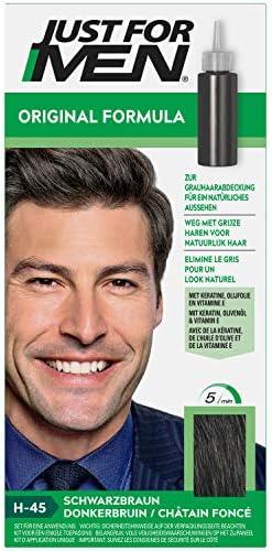 Just for Men Tinte para el cabello de fórmula original de color marrón oscuro que restaura el color original para un aspecto natural. H45.